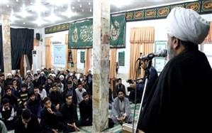 مراسم عزاداری شهادت حضرت فاطمه زهرا (س) در مدرسه علمیه امام خمینی (ره) بوشهر برگزار شد