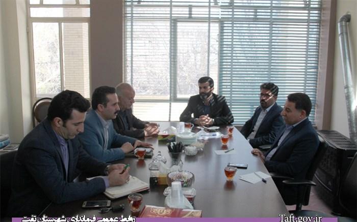 برگزاری جلسه شورای شهر تفت با حضور فرماندار