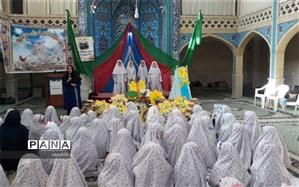 جشن تکلیف 100 فرشته زمینی در شهر زواره برگزار شد