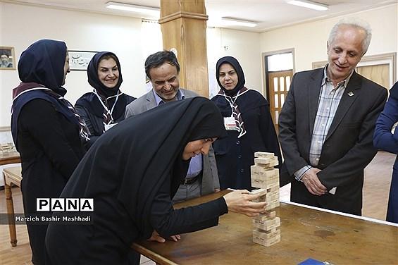 بازدید مسئولان استان فارس از روند برگزاری چهارمین دوره المپیاد استانی بازیهای فکری سرگرمی در شیراز