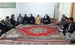 دیدار مدیران خوسف با امام جمعه شهرستان  به مناسبت دهه فجر