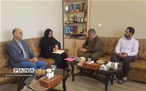 جلسه رئیس اداره استعدادهای درخشان با رئیس بنیاد ملی نخبگان استان