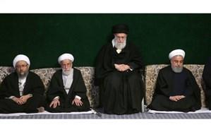 مراسم عزاداری ایام شهادت حضرت فاطمه زهرا (س) با حضور رهبر معظم انقلاب برگزار شد