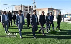 افتتاح دومین زمین فوتبال چمن مصنوعی در شهرستان لالی