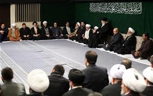 دومین شب مراسم عزاداری ایام شهادت حضرت فاطمه (س) با حضور رهبر معظم انقلاب برگزار شد