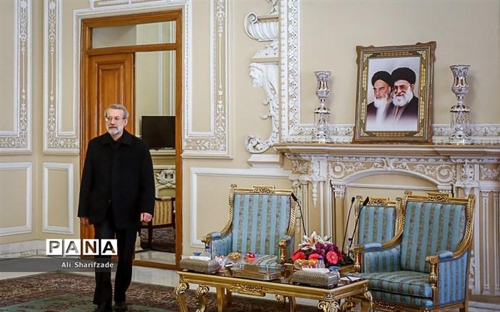 دیدار وزیر امورخارجه سوریه با علی لاریجانی
