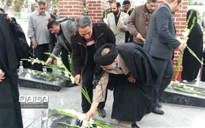 مراسم بزرگداشت مقام شهدا در خاورشهر