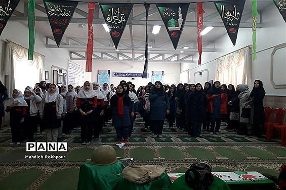 برگزاری مراسم یادواره شهدا دردبیرستان فخرالزمان قریب