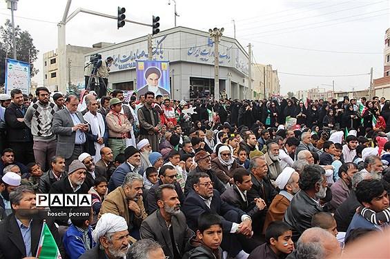 راهپیمایی 22 بهمن در زاهدان