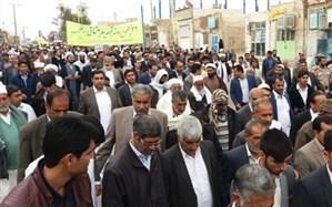 راهپیمایی 22 بهمن در شهرستان زهک برگزار شد