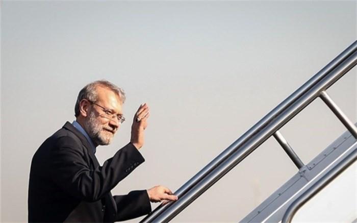 لاریجانی در هواپیما