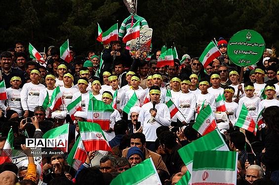 مراسم راهپیمایی 22 بهمن در شهرستان بیرجند