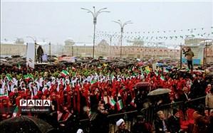 اجرای سرود انقلاب توسط همسرایان فجر در روز ٢٢ بهمن