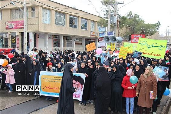 مراسم راهپیمایی 22 بهمن در نی ریز