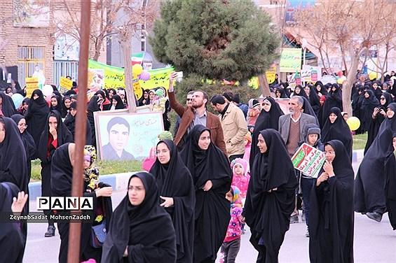 مراسم راهپیمایی 22 بهمن  در شهرستان بشرویه  خراسان جنوبی