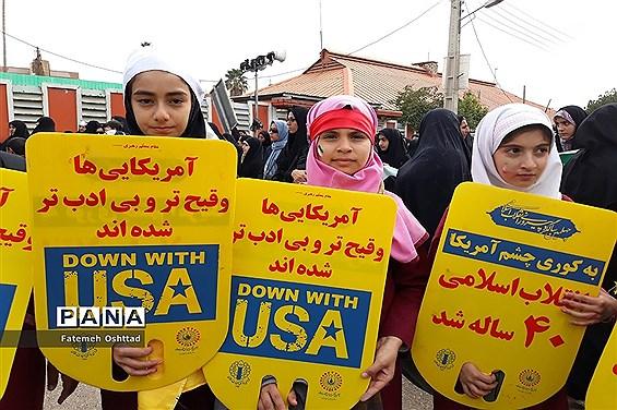 حضور پرشور مردم مسجدسلیمان در راهپیمایی ۲۲ بهمن