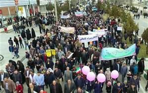 حضور با شکوه فرهنگیان و دانش آموزان شهرستان ابهر در راهپیمایی 22 بهمن ماه