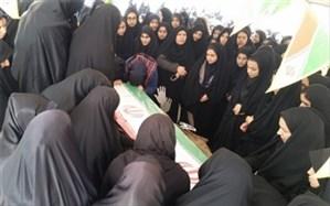 مراسم وداع با شهید حریم امنیت شهید عباس کوهی