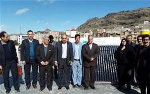 نصب سیستم های گرمایشی خورشیدی با هدف ایجاد مدرسه سبزدر لرستان