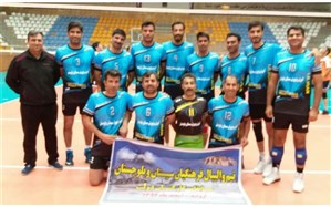 پیروزی 2_0 تیم والیبال آموزش و پرورش سیستان و بلوچستان در مصاف با تیم همدان