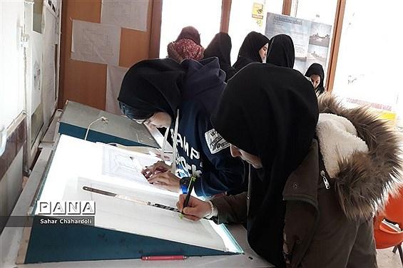 برگزاری نمایشگاه طراحی دوخت در هنرستان تهذیب همدان