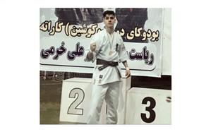 مدال طلای مسابقات کیوکوشین کاراته کشور توسط دانشآموز چهاردانگهای کسب شد