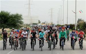 برگزاری همایش دوچرخه سواری توان خواهان ذهنی در شهرری