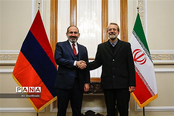 دیدار رئیس مجلس شورای اسلامی با نخست وزیر ارمنستان