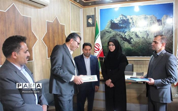 تکریم و معارفه رئیس اداره حفاظت از محیطزیست شهرستان تفت