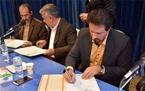 """امضای تفاهم نامه """"خانه سبز"""" بین شهرداری، سازمان نظام مهندسی و شرکت آب و فاضلاب در کاشان"""