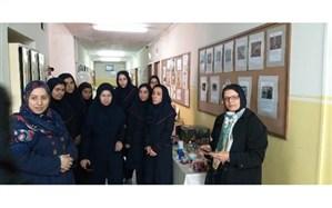 بازدید ناهید خداکرمی از هنرستان شهادت منطقه 6