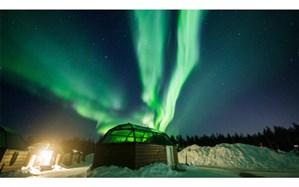 شفق قطبی در آسمان فنلاند + تصاویر