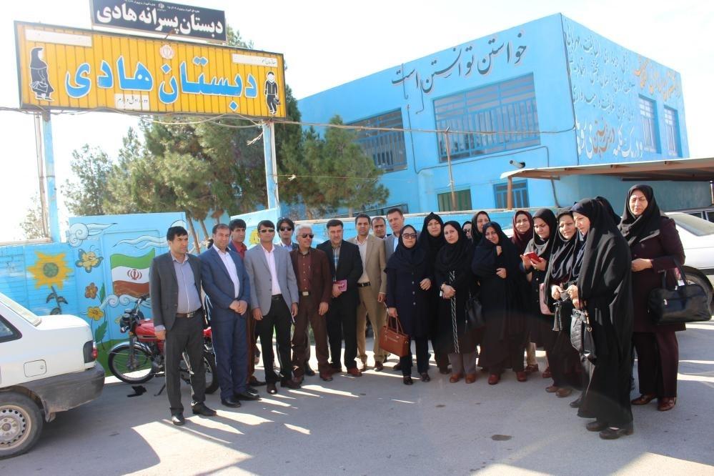 بازدیدآموزشی  مدیران ابتدایی مدارس هیات امنایی شهرستان بویراحمد ازدبستان پسرانه هادی -  استان یزد