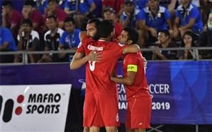 فوتبال ساحلی قهرمانی آسیا؛ ایران با جشنواره گل استارت زد