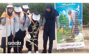 آیین روز درختکاری(هفته منابع طبیعی) در مدارس  امیدیه برگزار شد