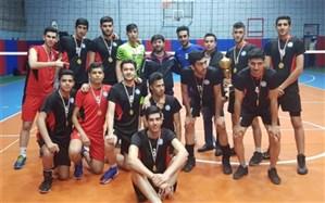 قهرمانی تیم والیبال دانشآموزان پسر ناحیه یک ری در شهرستانهای استان تهران
