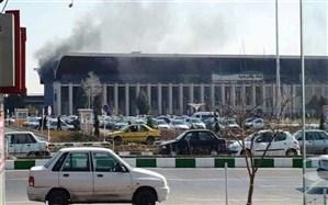 بخشی از ساختمان ایستگاه راه آهن مشهد آتش گرفت