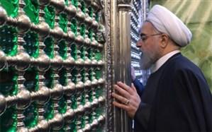 زیارت  رئیس جمهوری از امامین جوادین (ع) + تصاویر