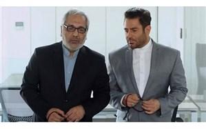 تصویر/مهران مدیری و محمدرضا گلزار با دستبند و لباس زندان بر پوستر یک فیلم