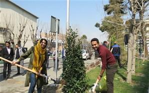 مراسم روز درختکاری متفاوت در دانشگاه شریف + تصاویر