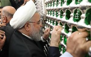 روحانی حرم امام حسین(ع) و اباالفضل العباس(ع) را زیارت کرد + تصاویر