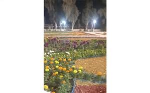 برای اولین بار در استان خوزستان باِغ  گلها در شهرستان امیدیه افتتاح شد