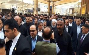گزارش توئیتری ظریف از دیدار روحانی و آیتالله سیستانی