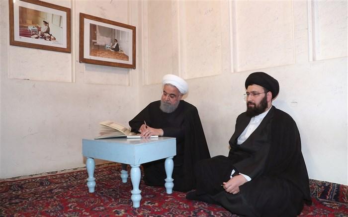 روحانی و سید علی خمینی