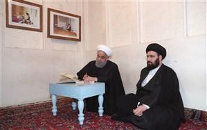 روحانی در دفتر یادبود بیت امام چه نوشت
