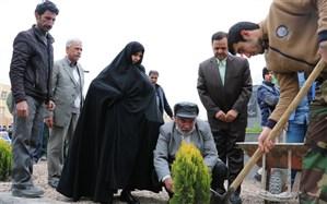 کا شت 1400 اصله درخت به یاد شهدای دانش آموز در  آموزش و پرورش ناحیه ۶ مشهد