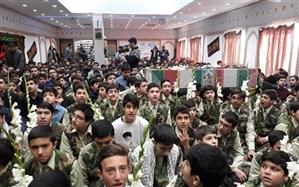 تشییع پیکر مطهرشهید گمنام در مدارس  ناحیه دو شهرری