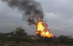 انفجار لوله گاز در منطقه برومی اهواز