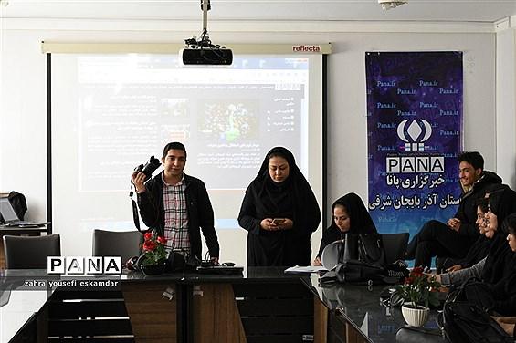 کارگاه اصول خبرنویسی وعکاسی ناحیه 3 تبریز