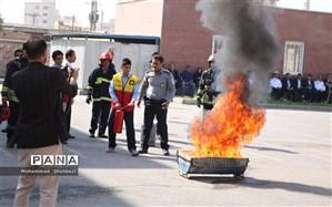 اجرای مانور  پیشگیری از حوادث چهارشنبه سوری در ناحیه 2 اهواز